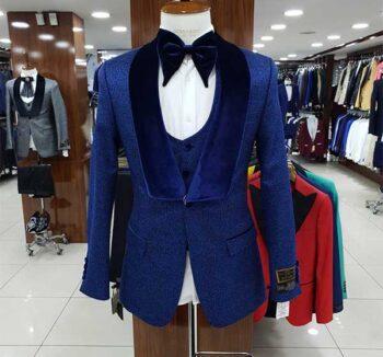 Chic veste bleue pour homme d'affaires