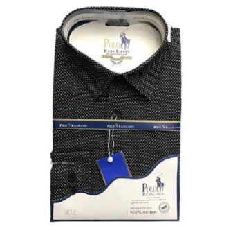 Chemise manche longue noire à lomé