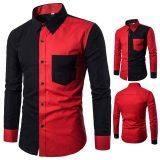 Chemises homme manches longues rouge noire au togo
