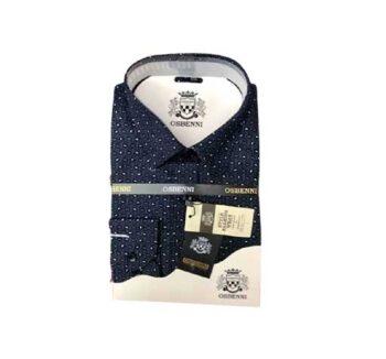 Chemise bleue avec un chic motif au togo